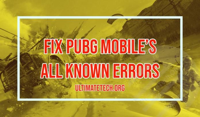 Fix PUBG Mobile all Known Errors